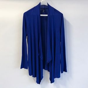 Rags and Couture Womens Draped Open Front Cardigan